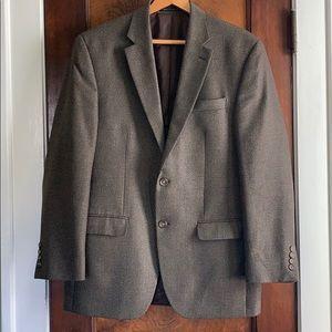 EUC CHAPS 40R Brown Tweed Blazer